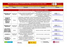 Recull setmanal d'ofertes de feina (del 19 al 26 de febrer de 2019)