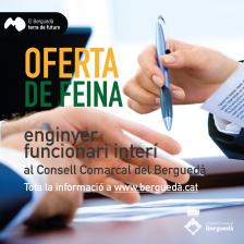 Oferta de feina al Consell Comarcal: Enginyer/a interí/na