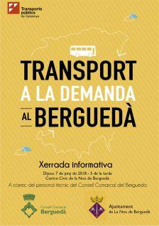 Sessió informativa sobre el transport a la demanda al Berguedà